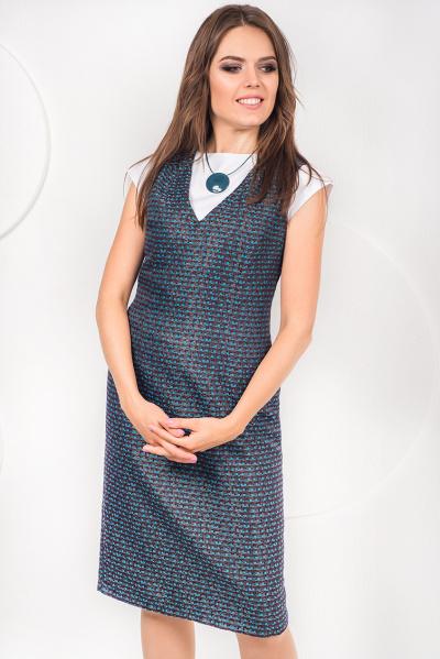 Платье-сарафан на подкладе П-482