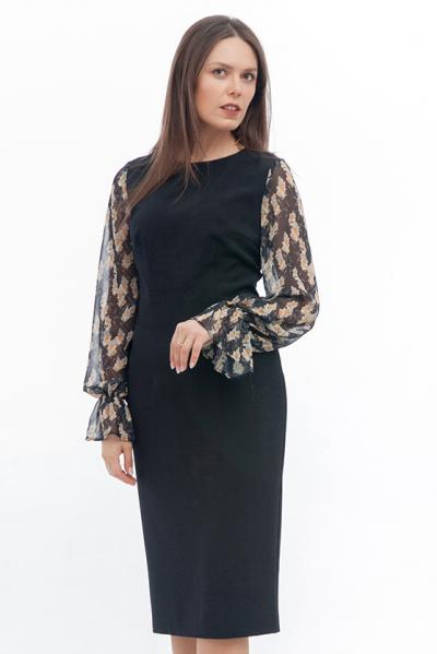 Платье с рукавами из шифона, П-522